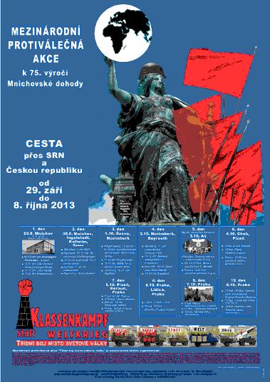 Plakat in tschechischer Sprache