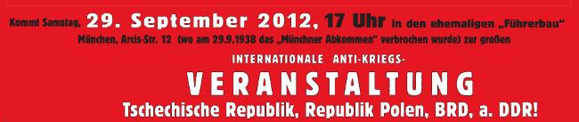 Internationale Anti-Kriegs-Veranstaltung, 29.9.2012